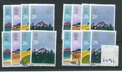 wbc. - GB WHOLESALE - 1982  - COMMONWEALTH DAY - F191 - FOUR SETS - FINE USED