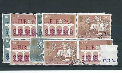 wbc. - GB WHOLESALE - 1984  - EUROPE ELECTIONS - F192 - FOUR SETS - FINE USED