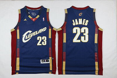 New Navy blue Cleveland Cavaliers #23 LeBron James Basketball Jerseys