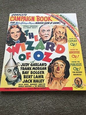 The WIZARD of OZ 2009 COMPLETE Campaign Book Reprint of Original 1939 Movie