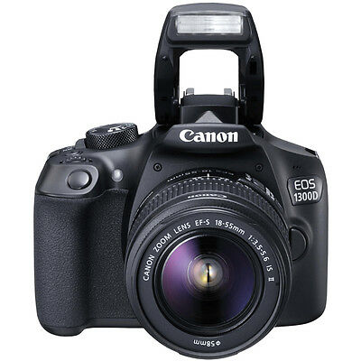 Canon EOS 1300D Digital SLR Camera with EF-S 18-55mm IS II Lens Kit UU