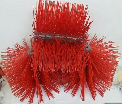 "Sweeper Brush S090024R, 12"" Long x 16"" dia., 1"" Bore - 1 lot of 3 brushes"