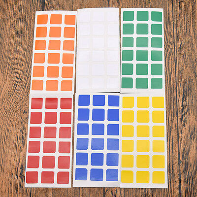 6 pcs 3x6 Magic Cube Stickers Replacement for 3X3X3 Rubik's Cube High Quality