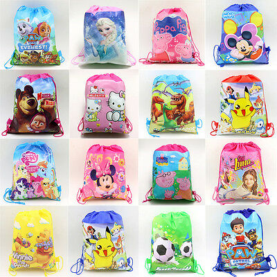 Kids Boys Girls Children Disney Drawstring Bag Gym Nursery PE School Backpack UK