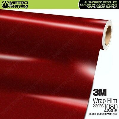 3M 1080 GP253 GLOSS CINDER SPARK RED Vinyl Vehicle Car Wrap Decal Sheet Roll