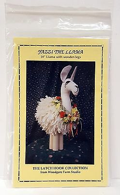 1994 Woodgate Farm Latch Hook Coll Pattern YAZZI THE LLAMA Doll Wooden Legs NIP