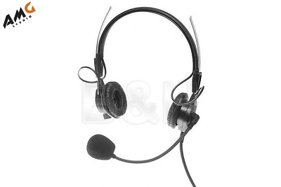 New Telex PH44 - Lightweight Dual Noise Cancelling Headset for RTS Black