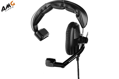 New Telex PH-1 Full Cushion Single Sided Cable Noise-cancelling Headset Black