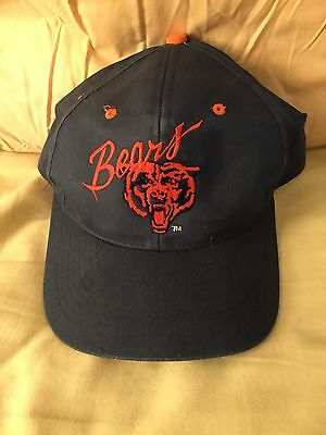 GALE SAYER Signed Chicago BEARS Navy Hat 1977 HOF The Kansas Comet