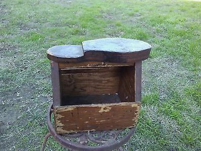 Antique Old Shoe Shine Box Made of Wood