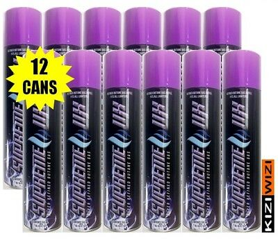 SUPREME 11X 12 cans Butane Super Refined 5 Nozzles 300 ML similar to POWER 5X