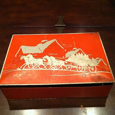 Antique Vintage CHRISTMAS NBC UNEEDA NATIONAL BISCUIT CO NABISCO HOLIDAY Tin