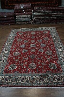 Great Allover Floral Red S Antique Tabriz Persian Rug Oriental Area Carpet 10X13