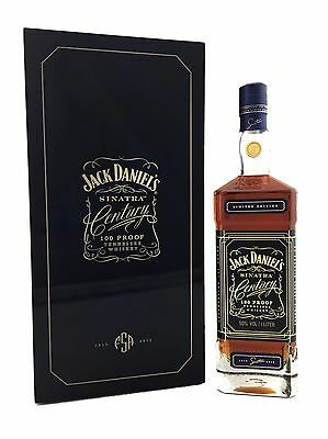Jack Daniels Sinatra Century Tennessee Whiskey.  50%alc 100 Proof - 1Litre