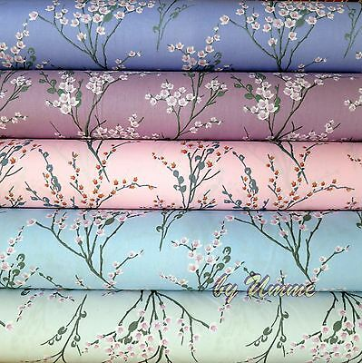 Japanese Blossom Floral Fabric 100% Cotton Material Craft Fat Quarter Bundle