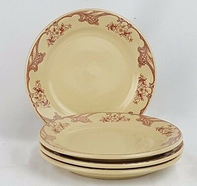 "Shenango Inca Ware Rose Point Plate Bread Butter Salad 6 3/4"" 1954-1963 Set of 4"