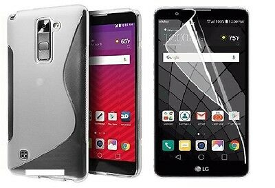 Clear S-Line Tpu Case+ Clear Screen Protector For Verizon Lg Stylo 2 V