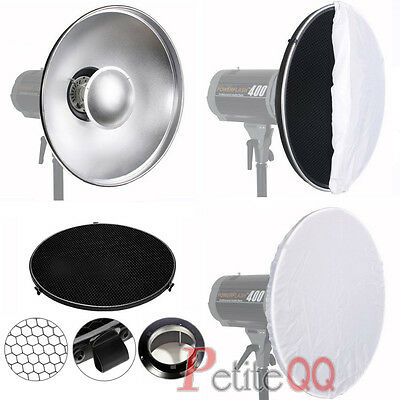 Beauty Dish 42CM + Honeycomb Grid + Diffuser Made With Bowens S Type Fitting UK