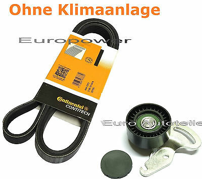 V-RIBBED BELTS+TENSION PULLEY Renault Clio II Megane II Megane Mode 1.5 DCI NEW