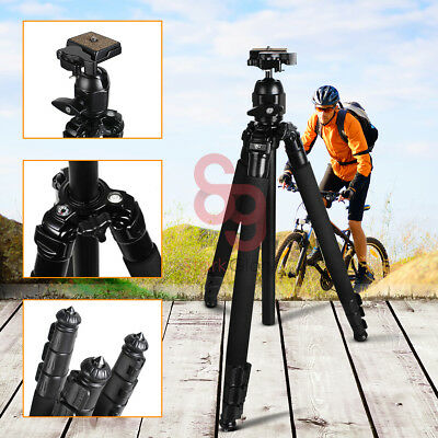 Professional Ball Head Tripod Stand For Canon Nikon Sony Camera DSLR WF-6662A UK