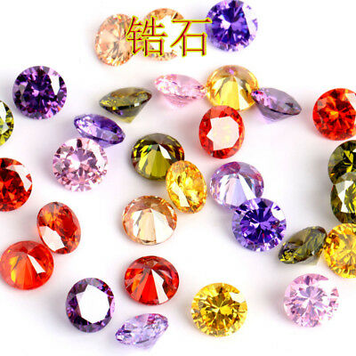 Size 10mm Round Cut  AAA Natural Zircon Gems Diamonds Loose Gemstone 12Colors