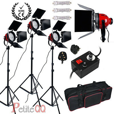 2400W Red Head Light Redhead Continuous Light Kit Photo Video Focus Earthed Pro