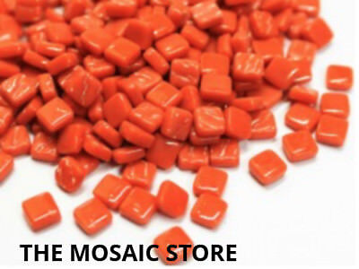 Chilli Powder 8mm Glass Tiles - Micro Small Mosaic Tiles Supplies Art Craft
