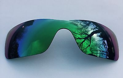 Polarized Emerald Green Mirror Replacement Oakley Batwolf Lens & Carry Pouch