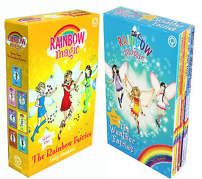 Rainbow Magic Series 1&2 Colour & Weather Fairies Collection 14 Books Box Set