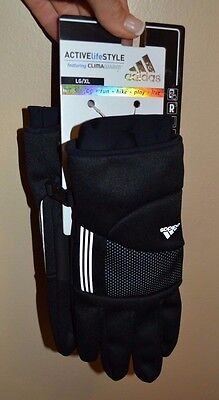 Adidas Active Life Style Cold Weather Gloves With Climawarm Walk Jog Run Hike