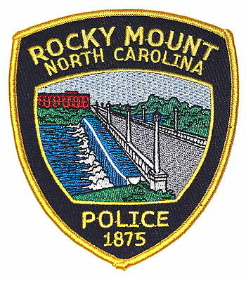 ROCKY MOUNT NORTH CAROLINA NC Police Sheriff Patch BRIDGE DAM WAERFALL ~