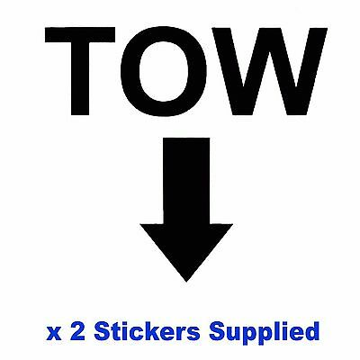 2 x MSA Specification - BLACK TOW Arrow Race / Rally Car Decals / Stickers