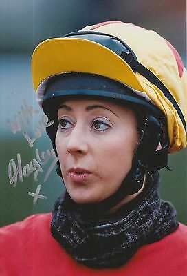 Hayley Turner Hand Signed 12x8 Photo Horse Racing Legend 2.