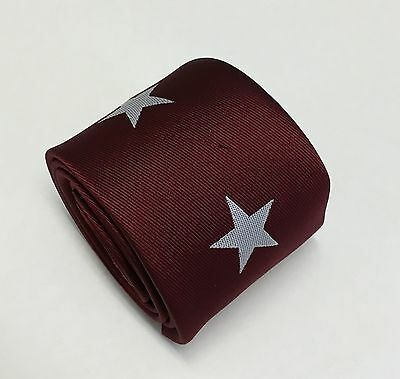 Horse Racing Tie - Maroon and White Star