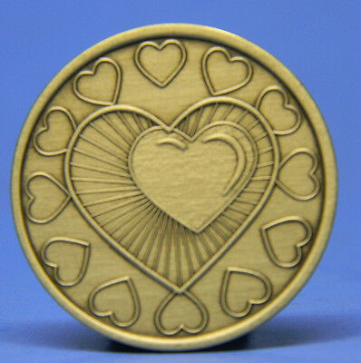 Bronze Chip - Medallion - Heart - Recovery - Sobriety