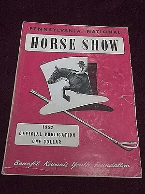 1952 Pennsylvania National Horse Show Vintage Program  Equestrian  Photos  Ads