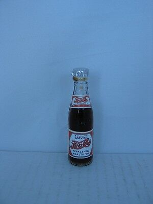 PEPSI:COLA 1930'S Label Miniature 3 inch Glass Bottle - New Old Stock