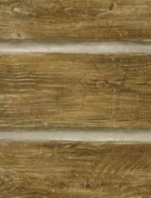 Chinking Chestnut Wood Panel Easy Walls Rustic Log Lodge Wallpaper TLL51011