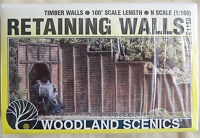 Woodland Scenics N Scale Timber Walls #C1160 Contains 6 Sections Ship FREE in US