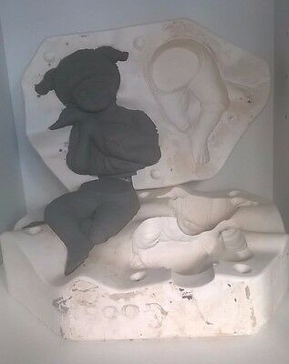 Ceramic Slip Casting Mold  Dona 622 Large Country Girl With Duck