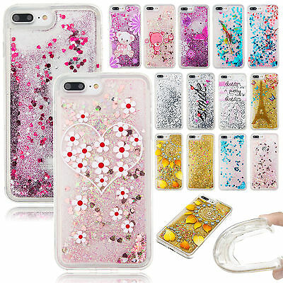 Luxury TPU Soft Rubber Protective Back Quicksand Case Cover For iPhone 6s 7 Plus