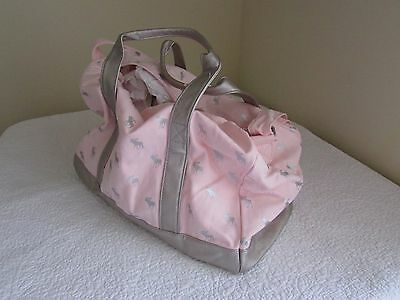 Abercrombie & Fitch Kids Girls Moose Logo Pink Duffle Weekender Overnight Bag NW