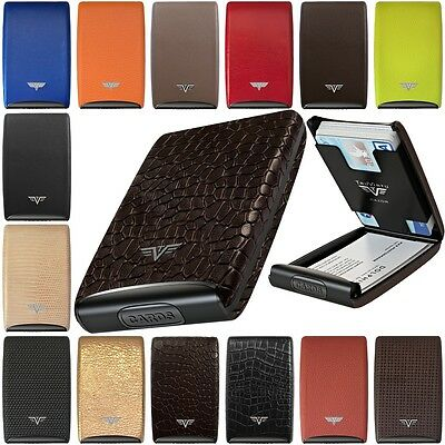 Tru Virtu Leather Aluminium Credit Card Case Business