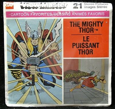 Vintage GAF VIEW MASTER - Cartoon Fav. 'THE MIGHTY THOR' 1977 -Unopened & Sealed