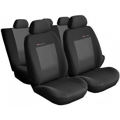 Universal CAR SEAT COVERS full set fits Peugeot 207 charcoal grey PATTERN 3