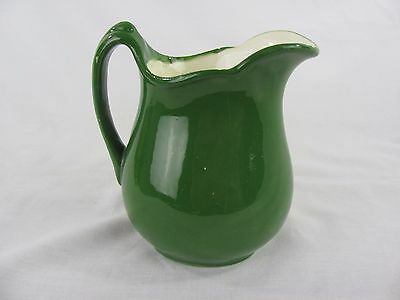 """VINTAGE """" Singing River"""" Small Green Pitcher"""