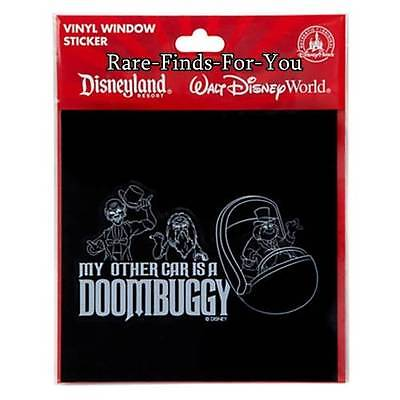 """Disney Parks Haunted Mansion """"My Other Car Is A DOOMBUGGY"""" Vinyl Window Sticker"""
