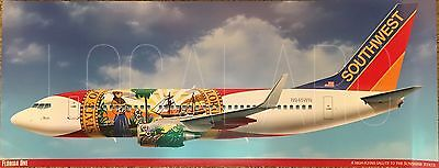 Southwest Airlines B737 Florida One livery poster