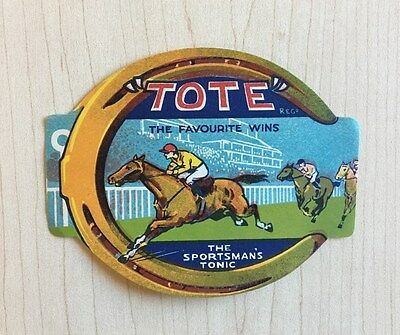1930s TOTE SPORTSMAN'S TONIC Label HORSE RACING Kentucky Derby
