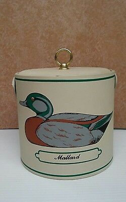 Vintage Georges Briard Ice Bucket with Mallard Duck & Green-Winged Teal